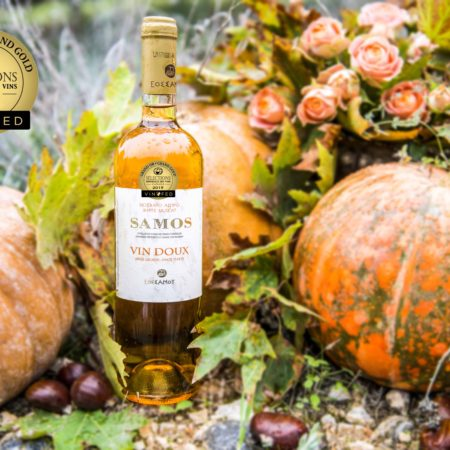 "A GRAND GOLD MEDAL FOR THE ""GOLDEN"" SAMOS VIN DOUX"